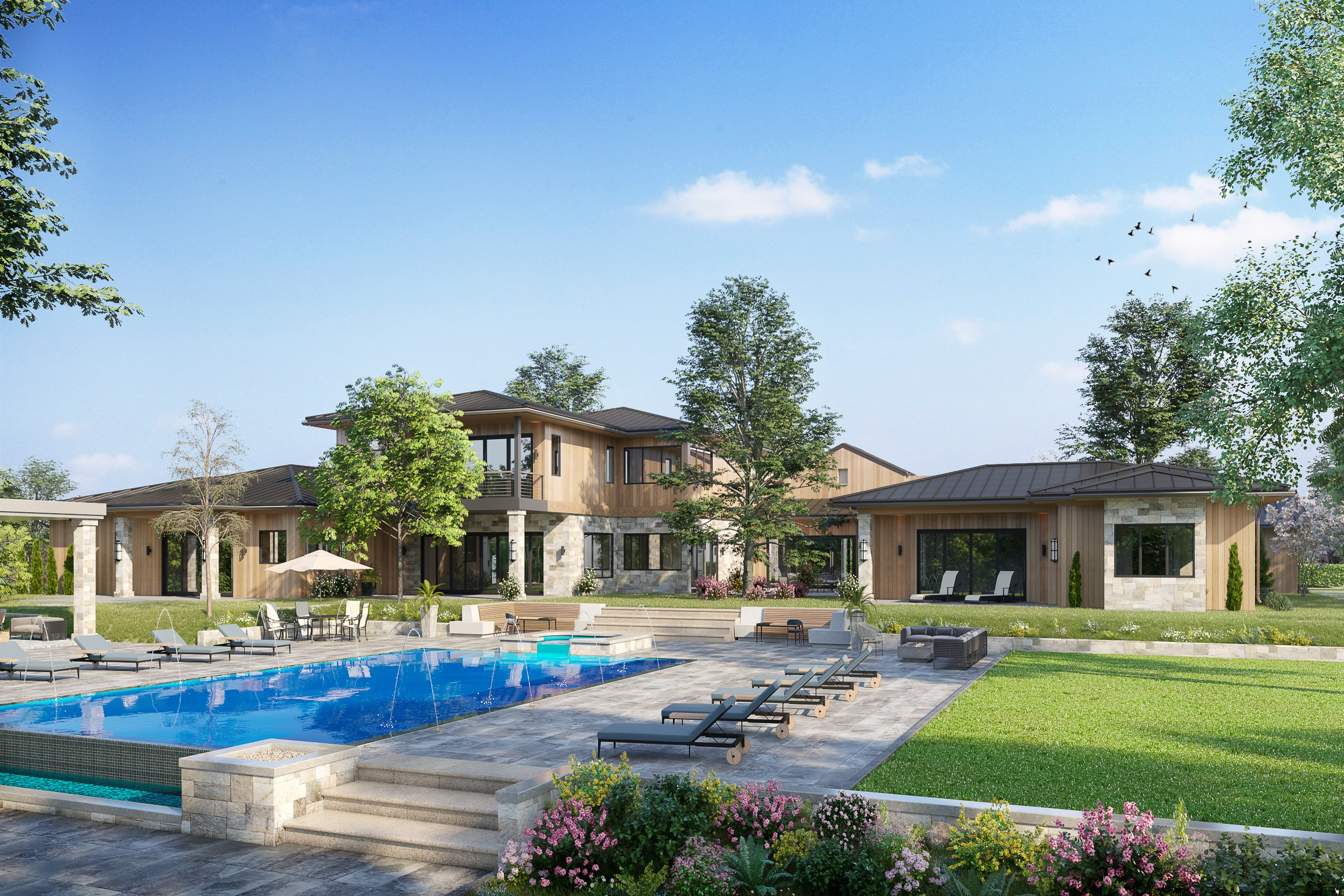 Residenza monofamiliare in vendita in Brand New, Expansive Setting, Panoramic Views, Los Altos Hills, California ,94022